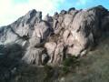 Вот через эту гору мы вчера вечером переваливали