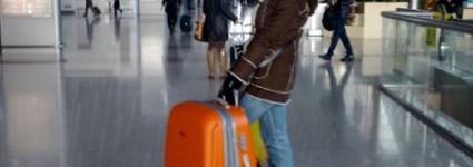 Оранжевый чемодан