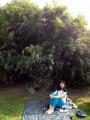 И мы нашли себе уголок под бамбуками